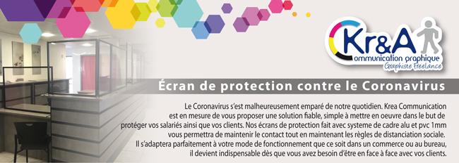 Ecrans et cloisons de protection covid