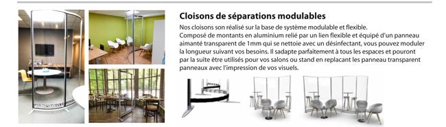 Cloison modulable de protection covid